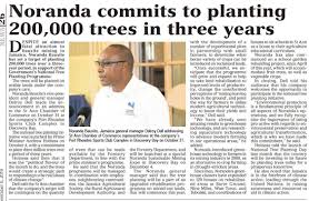 """Robert Nesta Morgan on Twitter: """"I have been advised that this is actually  300,000 over three years. This is significant because it would represent  10% of our target. Thanks to Noranda. #3MillionTrees…"""