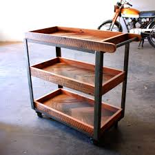 Industrial Bar Cart Trends With Vintage Artenzo