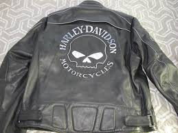 details about harley davidson willie g skull leather jacket 98099 07vm xl tall mens reflective