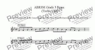 Brass Treble Clef - Grade 3 Scales & Arpeggios( ABRSM format )