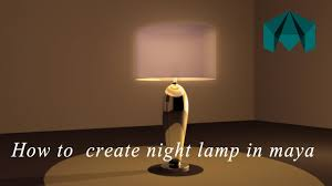 how to model and texture night lamp table lamp in maya using mental ray