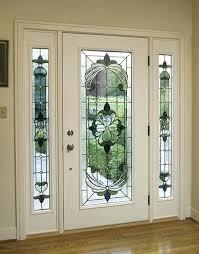 pretty white front door. Glass Front Doors White Door With Art  . Pretty