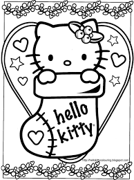 Small Picture Coloring Pages Hello Kitty Christmas Coloring Pages Hello Kitty