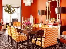 image of luxury orange dining chairs vintage