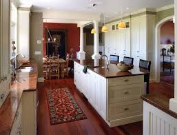 Off White Kitchen Cabinets with Dark Floors