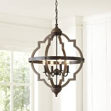 bennington candle style chandelier reviews birch lane intended for elegant property cage style chandeliers remodel