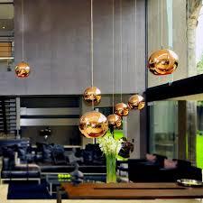 globe copper color glass mirror ball pendant light electroplate hanging lamp lighting fixture for ktv dining room bar restaurant pendant lantern multi