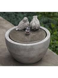 campania international fountains. Wonderful International Tabletop Fountain Campania International Cast Stone Small Birds Inside International Fountains