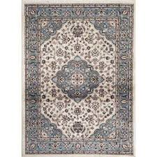 traditional oriental medallion design blue 7 ft 10 in x 10 ft 2