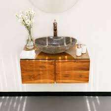 Teak Waschtisch Hängend Mit Türen Lasiert 80x43x30 Cm