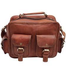 rustic vintage leather travel bag cabin luggage bag size 15