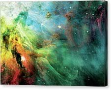Abstract Canvas Print - Rainbow Orion Nebula by Jennifer Rondinelli Reilly  - Fine Art Photography