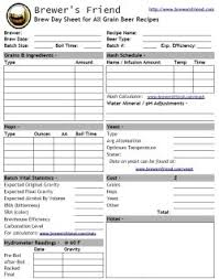 Beer Recipe Template For All Grain Brewers Friend