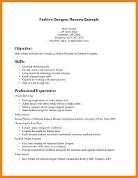 Fashion Design Resume Creative Arts And Graphic Design Resume