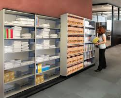 mobile side by side to side shelving