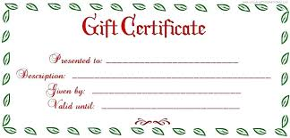 Gift Certificate Printable Free Blank Voucher Template Heatsticks Co