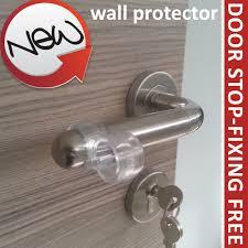 door stop wall protectors on door handle per guard stopper rubber stoppy stop ebay