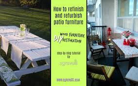 how to refinish and refurbish patio furniture diy wood furniture restoration using paint and stain