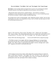 the canterbury tales essay prompt knight essays