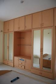 Great Bedroom Wardrobe Design Playwood Wadrobe With Cabinets Also Clothes Hangers  Trendy