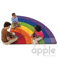 rainbow rows semi circle rug carpets for kids free
