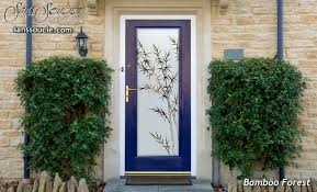 etched glass doors bamboo front tropical