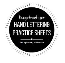 Large Hand Lettering Practice Sheets Brush Pen Brush