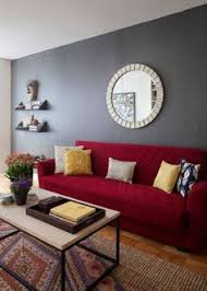 Latest And Cheap Red Sofa For Living Room Design With Accent Wall Color  Ideas By Home Architecture Design