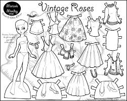 Small Picture Printable Paper Dolls And Clothes Coloring Coloring Pages