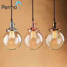 Permo Glasbol Vorm Hanger Lichten Koper Touw Hanger Plafond Lampen