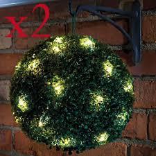 3ft Artificial Prelit Ball Topiary Tree  Pre Lit Topiary TreeArtificial Topiary Trees With Solar Lights