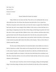 essay causes of stress to a community college student lovanne  2 pages essay should children be treated like adults