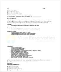 Us Citizenship Letter Of Recommendation Example Invitation Letter For Schengen Visa Letter Of Invitation For Visa
