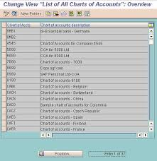 Define Chart Of Accounts In Sap Fico