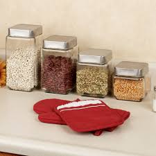 canisters astounding decorative glass kitchen canisters glass canisters with metal lids 3 piece kitchen canister