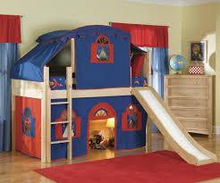 Medium Size of Beautiful Kid Bedroom Plus Blue Red Tent Oak Wood Boy Bunk  Bed W