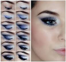 blue smoky eye makeup tutorial