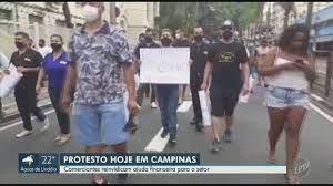 Jornal da EPTV 2ª Edição - Campinas/Piracicaba   Donos de bares e  restaurantes protestam a favor do lockdown em Campinas