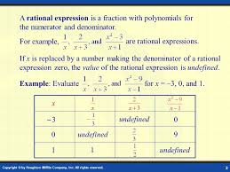 are rational expressions for example
