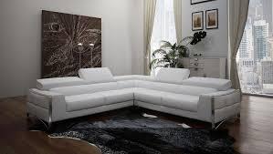 divani casa metz modern white sectional sofa