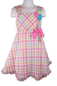 Bonnie Jean Pink Gingham Balloon Birthday Dress Treasure Box Kids
