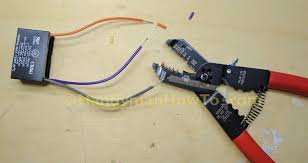 how to replace a ceiling fan motor capacitor ceiling fan motor capacitor cbb61 strip the wires
