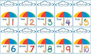 number templates 1 10 counting raindrops printable maths games and activities standard