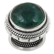 <b>Fashionable</b> Apatite <b>Oval</b> Cab Gemstone <b>Sterling</b> Silver Ring