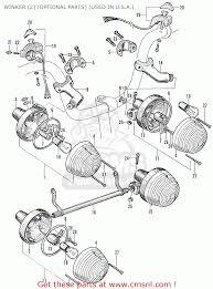 honda p50 little honda general export winker 2 optional parts winker 2 optional parts used in u s a schematic