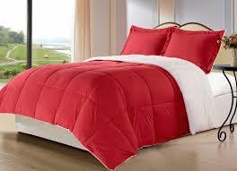 red beautiful comforter set