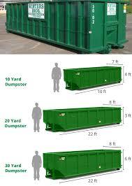 Dumpster Sizes Chart Dumpster Rental Services