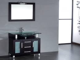 Bath vanity modern, bathroom sink single basin glass vanity set ...