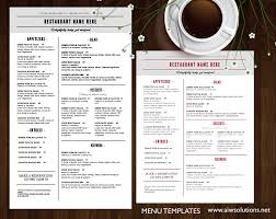 Restaurant Menu Design Templates Design Templates Menu Templates Wedding Menu Food Menu Bar