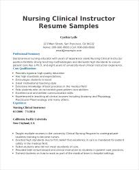 Educator Sample Resumes Fair Nurse Educator Resume Sample Also Sample Teaching Resume Ideas 58